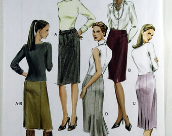 Vogue 7937, Misses' Skirt Sewing Pattern, Vogue Basic Design, Easy Skirt Sewing Pattern, Misses'/Misses' Petite Size 12, 14, 16, Uncut