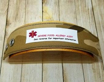 Kids Safety ID Bracelet Childrens Medical Alert Allergy Alert Wristband  Camo