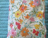 Vintage floral twin fitted sheet