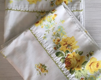 Vintage king size  floral pillowcases