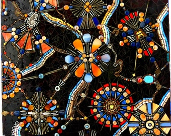Stained Glass Mosaic Art/ Wall Hanging/ Wall Mural/