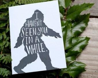 Sasquatch Letterpress Greeting Card