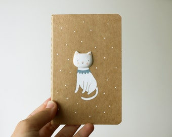 SALE Moleskine cahier - Altered journal - Cat notebook - Melancholicat