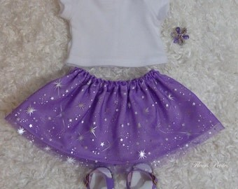 CLEARANCE!! 18 inch Doll 4 piece outfit: T-Shirt, Sparkle Skirt, Sandals, and Hair clip