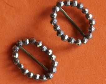Tiny Pair Vintage Metal Shoe Embellishments