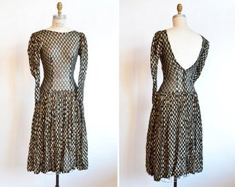 Vintage 1980s STATEMENT chiffon party dress