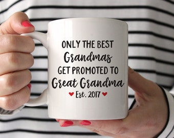 Great Grandma Pregnancy Announcement Pregnancy Reveal Great Grandparents Great Grandma Gift Baby Announcement Great Grandma 2017 Red Mug
