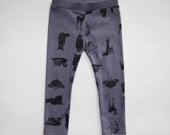 Grid Collective | Organic Hand Printed Toddler Kids Leggings Pants | Screen Printed | Organic Kids Clothes | Unisex | Kids Bottoms