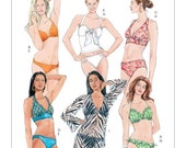 ON SALE Sz 12/14/16/18 - McCalls Swimwear Bikini Pattern M5400 - Misses'  Two Piece Bathing Suit and Cover-up