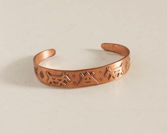 vintage 1970s Native American copper girls bracelet