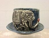 Valentine Elephant Mug with Saucer