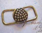 vintage brass belt buckle - two part buckle