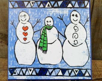 Block Snowmen Trivet-Best Seller**