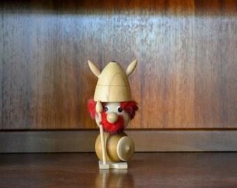 vintage midcentury viking figurine
