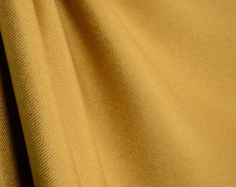 Solid Textured Gold Upholstery Weight Fabric