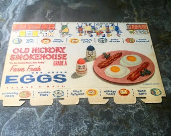 Egg Cartons / Kitchen Collectable / Set of 3 / Circa 1960's