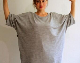 Hideout Oversized Merino Wool Sweatshirt with Pockets