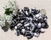 10 Zebra Stone Jasper Crystal Tumblestones, Crystal Collection, Black Crystals, White, Chakra Crystals, Aries Crystals, Meditation Stone