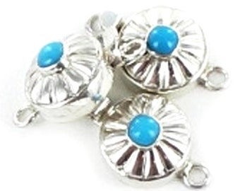 Sleeping Beauty Turquoise Clasp Southwestern Button Design 6mm New World Gems