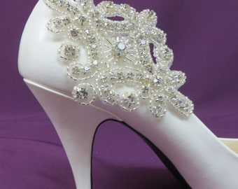 Flower Girl Shoe Clips, Bridal Party Shoe Clips, Bridesmaid Shoe Clips, Wedding Bridal Shoe Clips