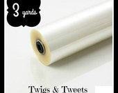 Ready To Ship- 3 yards crinkle material, crinkle paper, crinkle supplies, crinkle blanket size roll- crinkle crackle