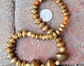 African Coin Metal Beads: Brass 3 Sizes
