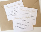 Practice Makes Perfect Insert - Gold Rehearsal Dinner Insert - Wedding Party Insert for Rehearsal Dinner Invitations