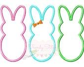 Bunnies Girl Applique Design Machine Embroidery Design INSTANT DOWNLOAD