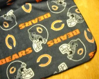 "Chicago Bears Fleece Throw--  72"" x 58/60"""