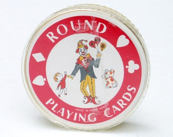Round Playing Cards Cicular Card Deck