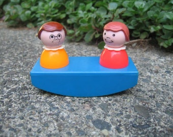 Vintage Fisher Price Teeter Totter and Girls