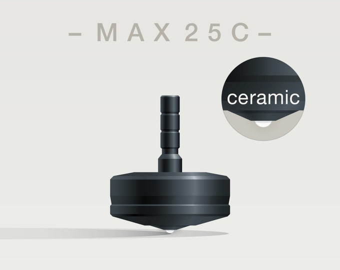 MAX 25C – Precision spinning top with ceramic tip - desk and pocket top