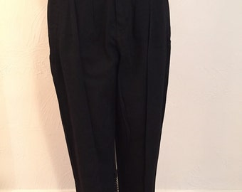 Black Cotton Pleated Highwaisted Cotton Vintage ESPRIT Pants S