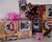 Wrapping Paper,Pet Portraits,Pugs and Pets.  Free Shipping