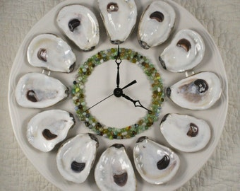 Dozen Oysters on the Half Shell Wall Clock