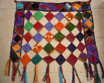 colorful turkmen wall hanging