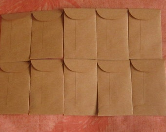 "25 Mini Brown Coin Envelopes - 2 1/8"" x 3 5/8"", Brown Seed Envelopes, Confetti Envelopes, Seed Packets, Wedding Favors, Confetti Bags"