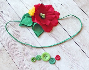 Eat Your Heart Out -- red, yellow and green primary color hungry little caterpillar inspired headband