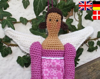 Amigurumi ANGEL - crochet pattern, PDF in English, Deutsch, Svenska