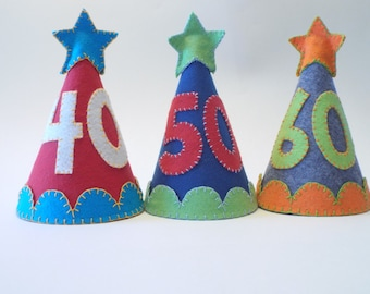 Grown-up Birthday Party Hat--Custom Made