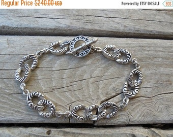 ON SALE Medieval style bracelet in sterling silver