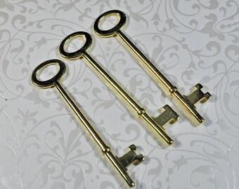 bright brass keys, 80mm, set of 4, #900