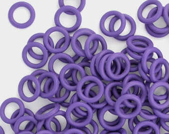 Rubber Rings - deep purple, 15mm - #1061