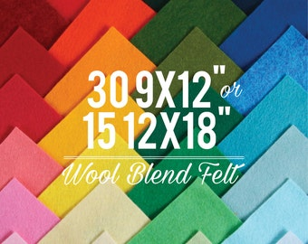 Wool Blend Felt // Choose your own colors  // Felt Material, Colorful Crafts, Childrens Toys, Wool Fabric, Felt Assortment, Heirloom Craft