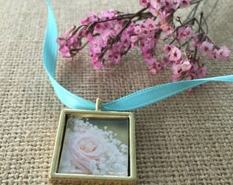 Bouquet Photo Charm - GOLD finish