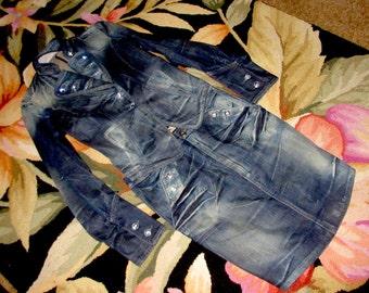 1960 Fornarina Demin & jewels Skirt and Jacket