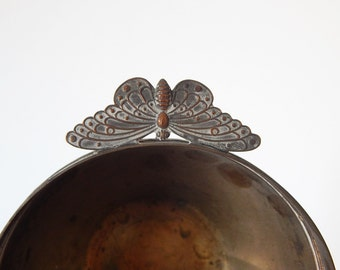 vintage butterfly dish