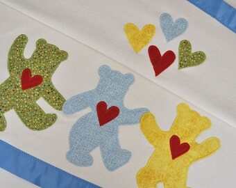 Grateful Dead Dancing Bears Baby Blanket with Rainbow Colors -- Free Personalization