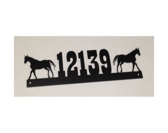 House Number Sign, Horses