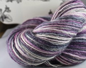 Handspun Yarn Gently Thick and Thin Fine Sport Single Blue Faced Leicester and Silk 'Bistro'